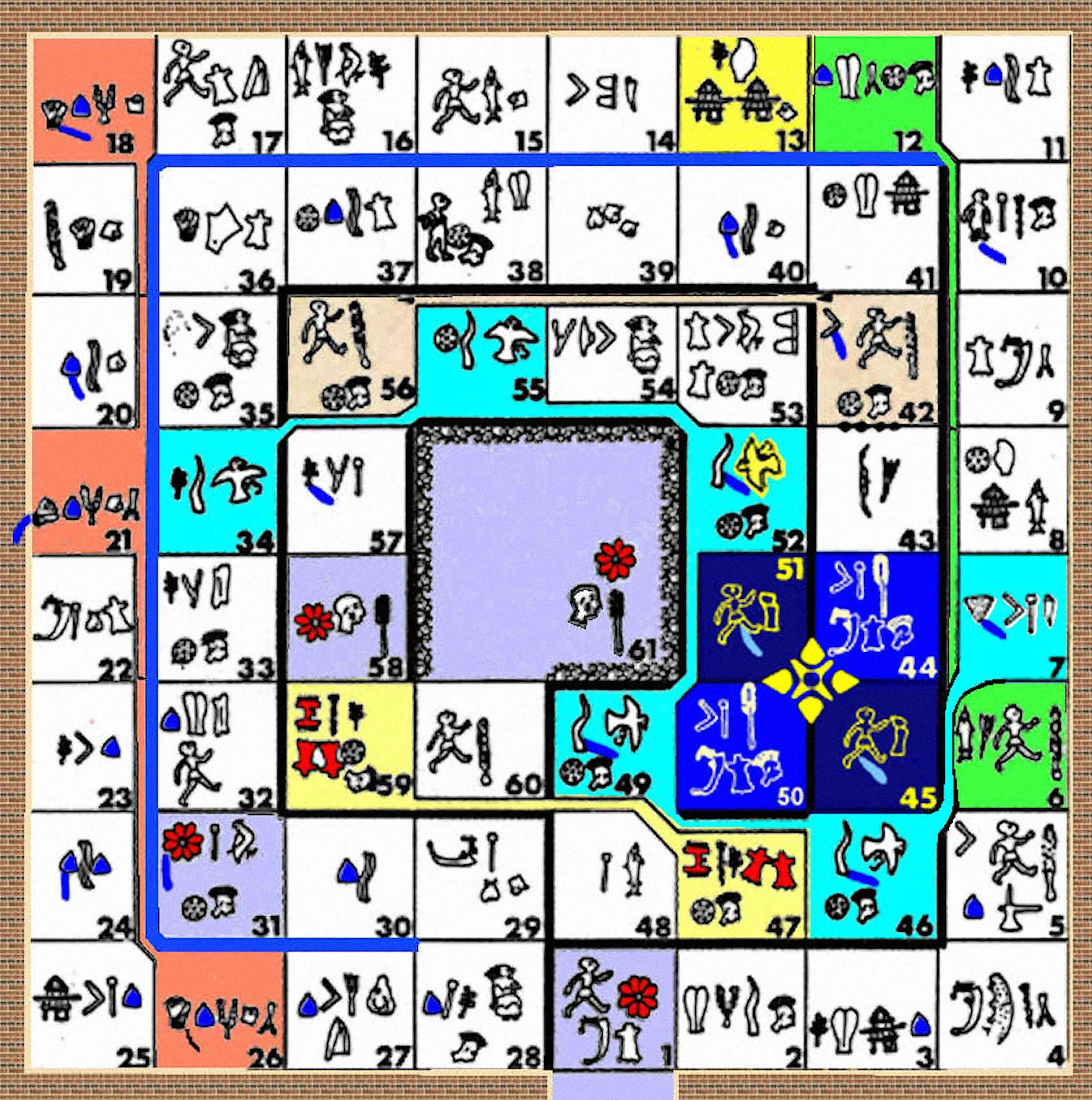 Game color chart - Game Color Paths The Above Sky Chart And Religious Gameboard Is Formed By Joining End